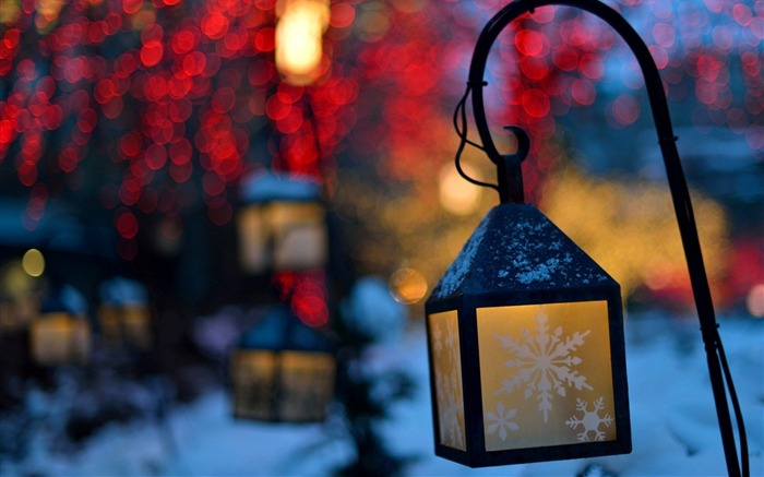lanterns lights snowflakes-HIGH Quality Wallpaper Views:4518 Date:1/3/2014 8:51:09 AM