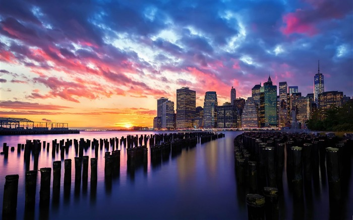 new york sunrise-HD photography wallpaper Views:4890 Date:1/11/2014 11:07:33 PM