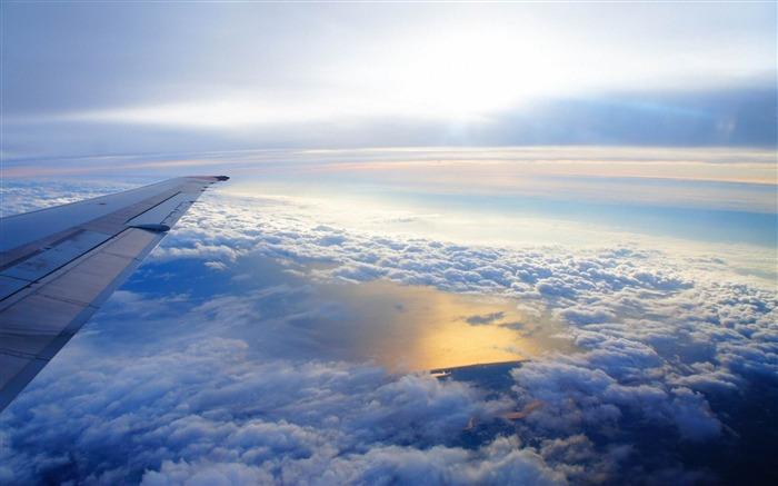 天空高空云层飞机-高清图片壁纸