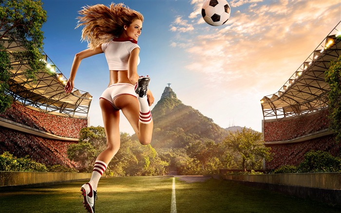 2014 Brazil World Cup football baby sexy wallpaper 01 Views:6798