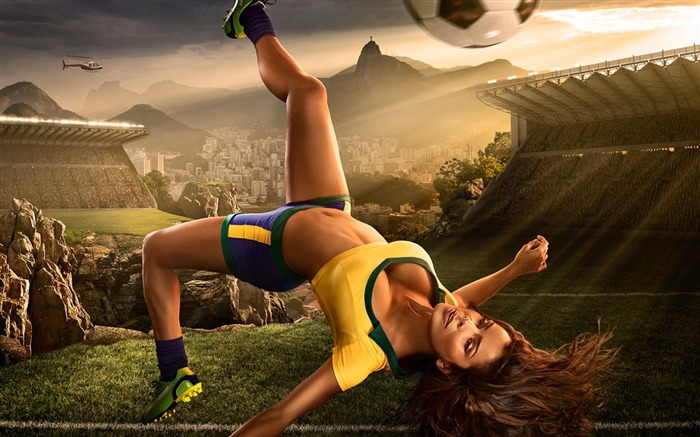 2014 Brazil World Cup football baby sexy wallpaper 03 Views:5140
