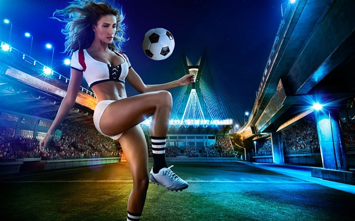 2014 Brazil World Cup football baby sexy wallpaper 04 Views:4804