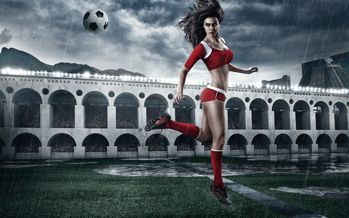 2014 Brazil World Cup football baby sexy wallpaper 05 Views:3389