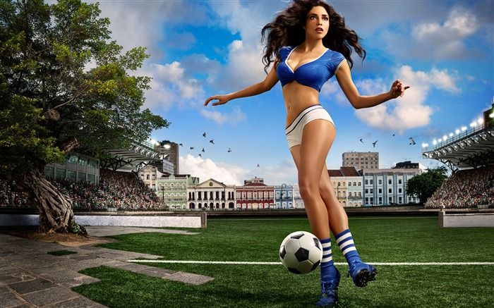 2014 Brazil World Cup football baby sexy wallpaper 06 Views:4103