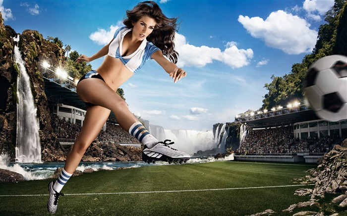 2014 Brazil World Cup football baby sexy wallpaper 08 Views:3965