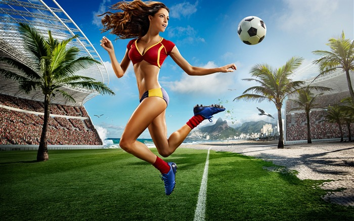 2014 Brazil World Cup football baby sexy wallpaper 09 Views:3977