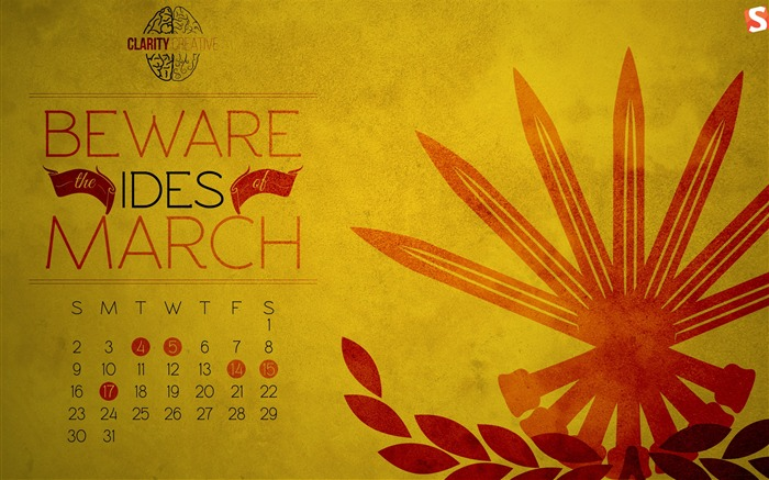 Ides of March-March 2014 calendar wallpaper Views:3788