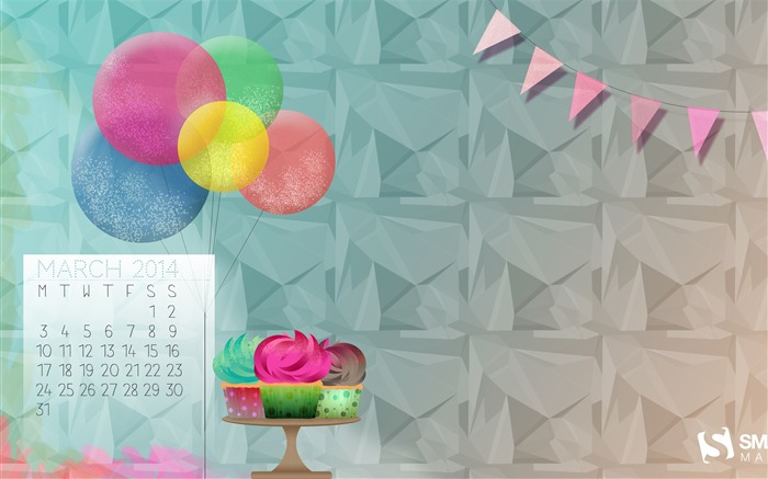 Its Always Someones Birthday-March 2014 calendar wallpaper Views:3014