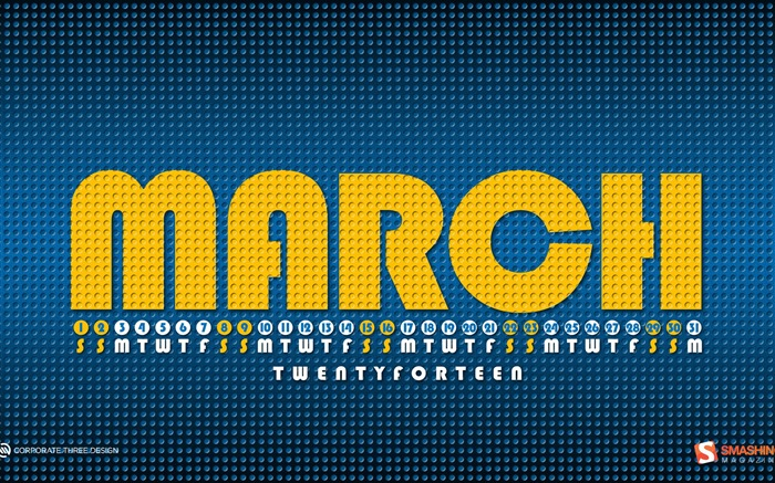 March 2014 calendar desktop themes wallpaper Views:10746