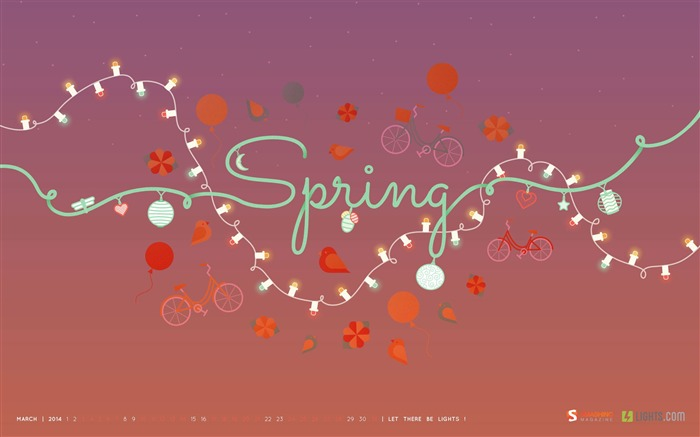 Lovely Spring Afternoon-March 2014 calendar wallpaper Views:3025