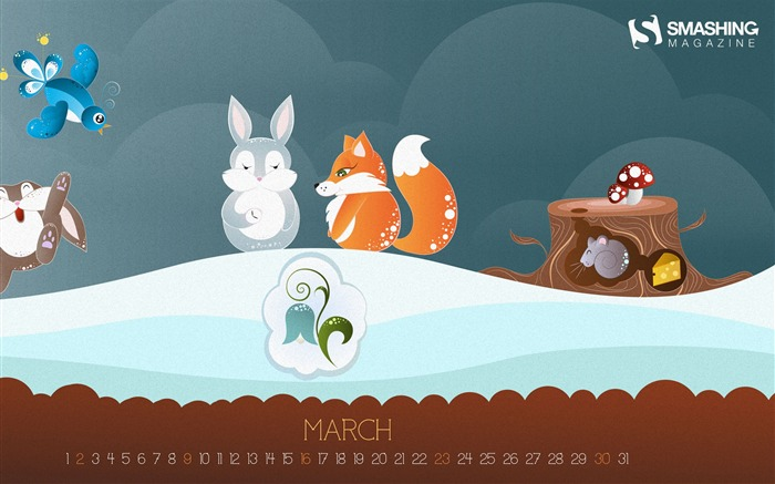 Spring Is Here-March 2014 calendar wallpaper Views:1554