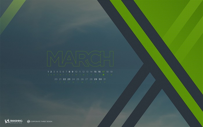 Desktop Calendar March 2014