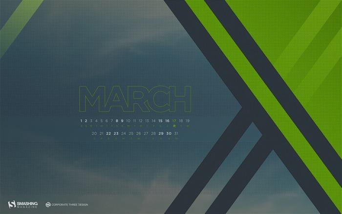 カレンダー 2014年1月カレンダー : Desktop Calendar March 2014