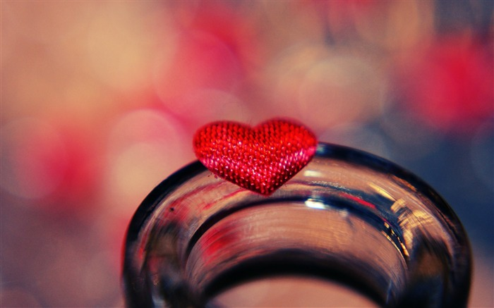 heart glass light-Macro photography wallpaper Views:2819