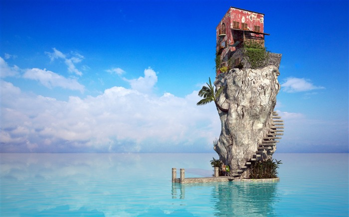 sea house-Photo Wallpaper Views:3051