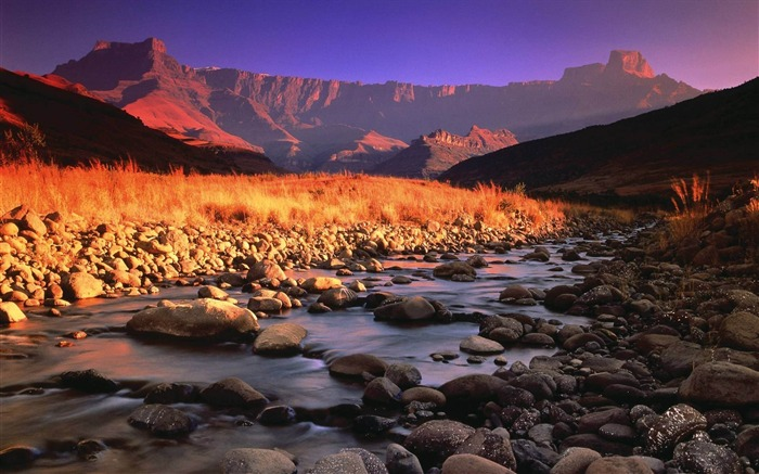 stones river mountains morning-Landscape Photo Wallpaper Views:2044
