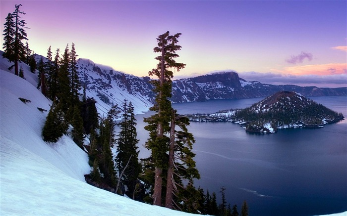 Fondo de pantalla de Crater Lake Oregon-Windows Vistas:4398