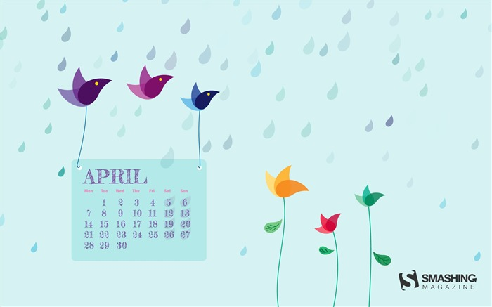 April 2014 calendar desktop themes wallpaper Views:12950