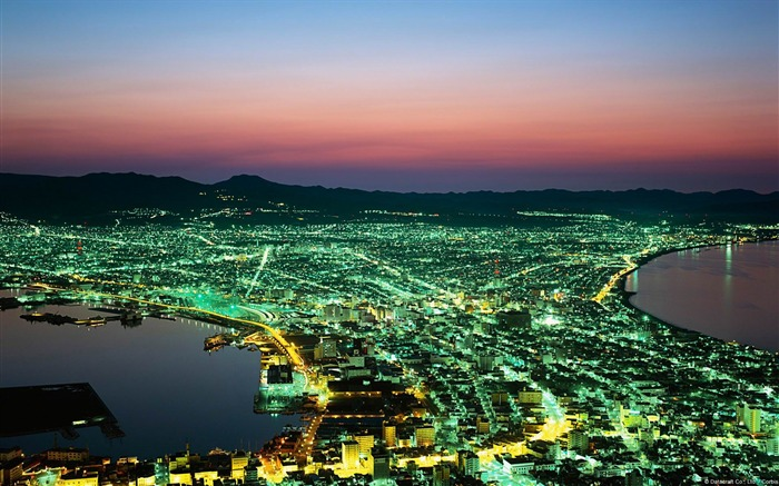 Night of Hakodate in Japan-Windows Wallpaper Views:4762