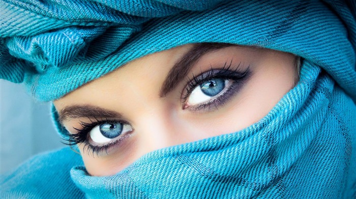 beautiful blue eyes-girls photo Wallpaper Views:3402