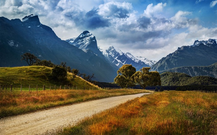 dirt road to paradise-Nature HD Wallpaper Views:3551