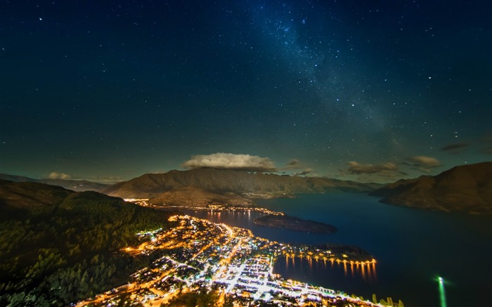 milky way over queenstown-Nature HD Wallpaper Views:3525