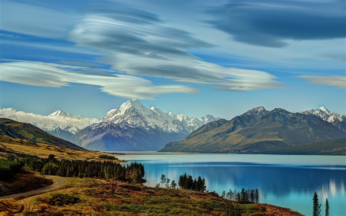 road to mount cook-Nature HD Wallpaper Views:2535