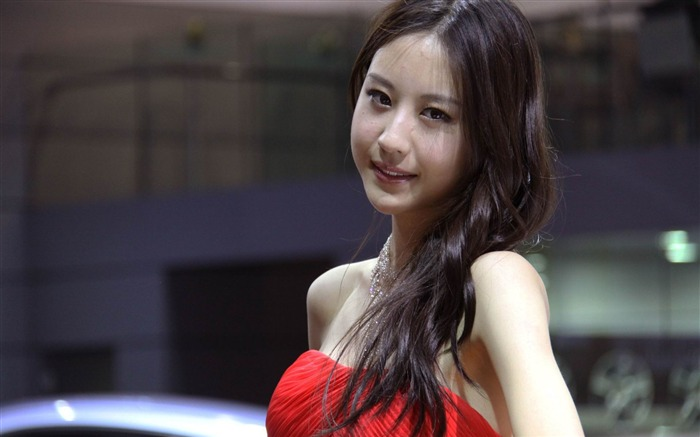 2014 Beijing Auto Show beauty model photo wallpaper Views:16230