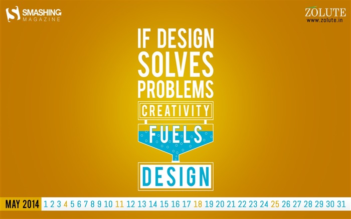 Design Solves Problems-May 2014 calendar wallpaper Views:2774