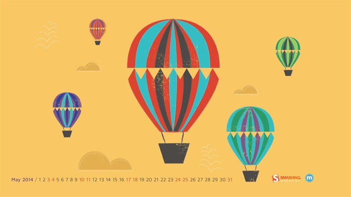 Hot Air Balloon Ride-May 2014 calendar wallpaper Views:2369