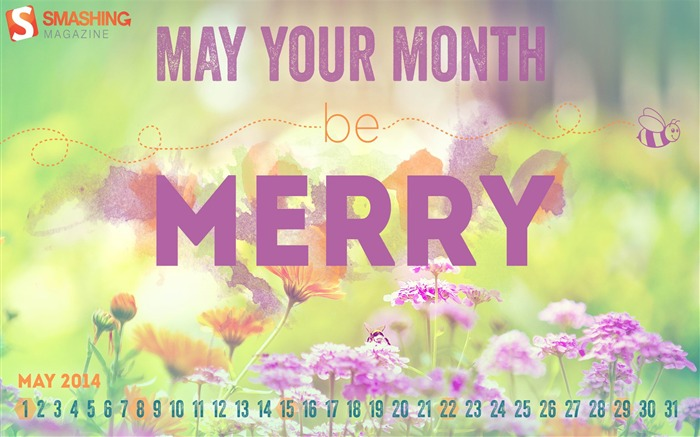 May Your Be Merry-May 2014 calendar wallpaper Views:3079