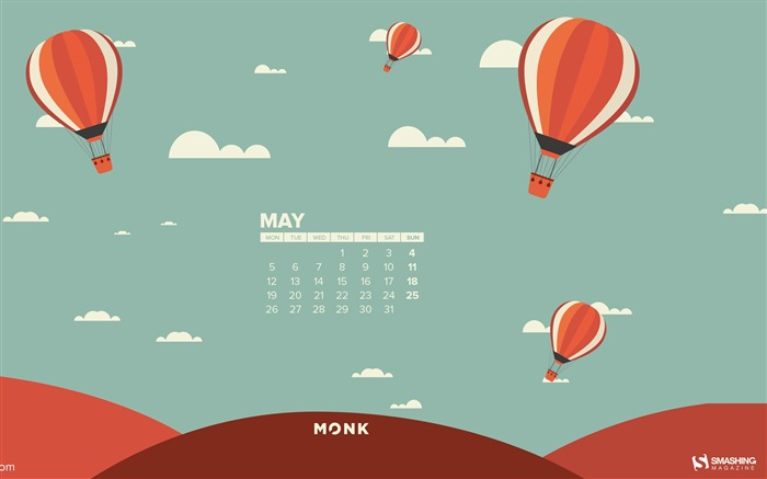 MonkGolfier-2014 calendar wallpaper Views:3258