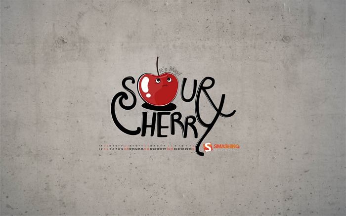 Sour Cherry-2014 calendar wallpaper Views:1955