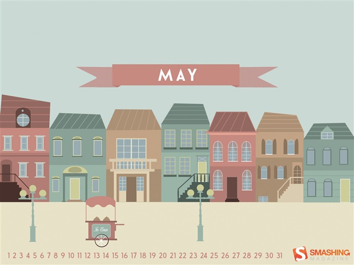 Spring Street-2014 calendar wallpaper Views:1382