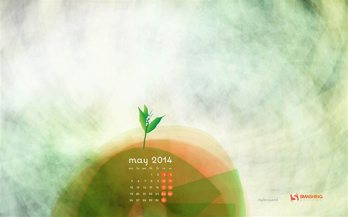 Sweet Lily Of The Valley-2014 calendar wallpaper Views:1858
