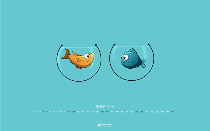 Swimming In a Fishbowl-2014 calendar wallpaper Views:1872