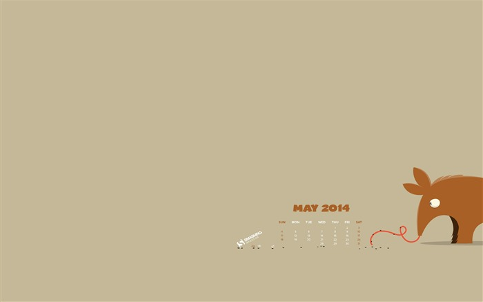 Ticklish Tongue-2014 calendar wallpaper Views:1813