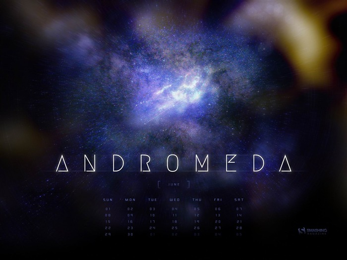 Andromeda-June 2014 calendar wallpaper Views:3190