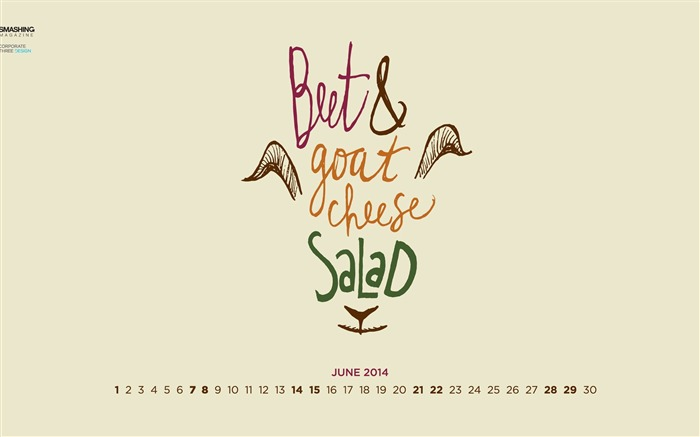Beets and Goat Cheese-June 2014 calendar wallpaper Views:2932