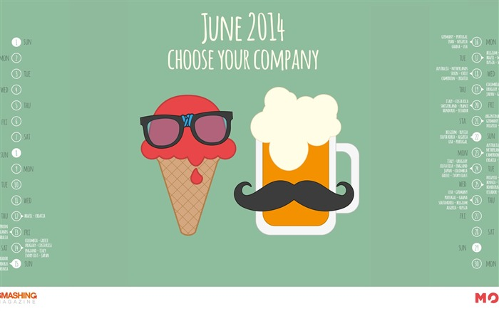 Choose Your Company-June 2014 calendar wallpaper Views:2805