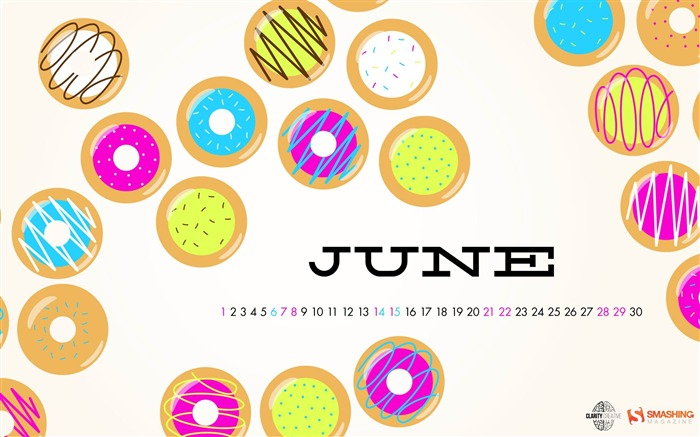 Doughnuts Galore-June 2014 calendar wallpaper Views:2892