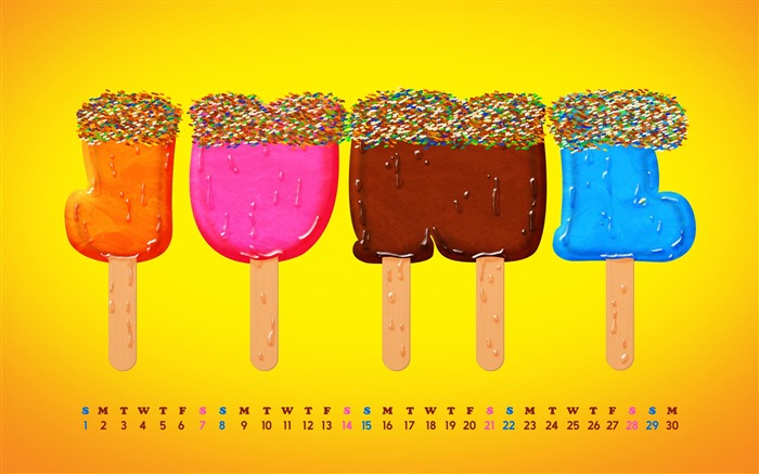 Ice Cream June-June 2014 calendar wallpaper Views:2816