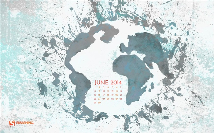 Its A Big World-June 2014 calendar wallpaper Views:3087
