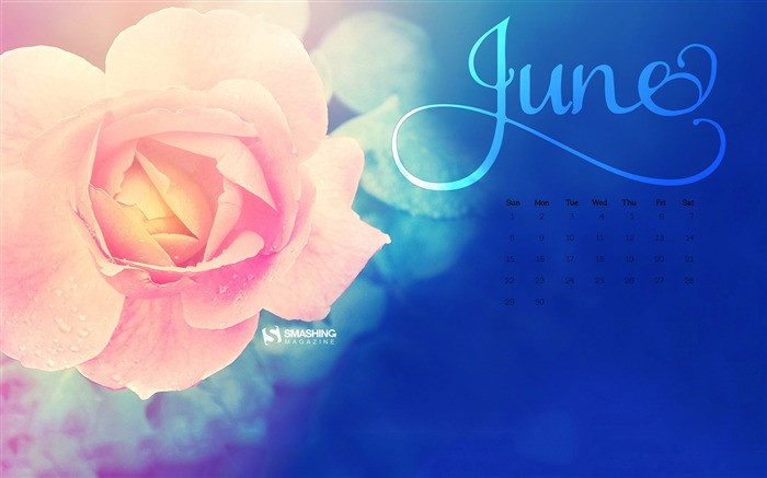 June 2014 calendar desktop themes wallpaper Views:10510