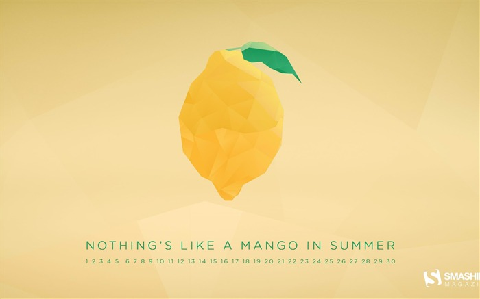 Nothings Like A Mango In Summer-June 2014 calendar wallpaper Views:3149