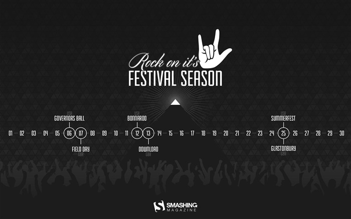 Rock On Its Festival Season-June 2014 calendar wallpaper Views:1384