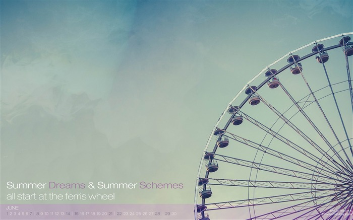 Summer Dreams-June 2014 calendar wallpaper Views:1296