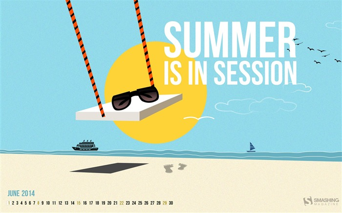Summer Is In Session-June 2014 calendar wallpaper Views:1830