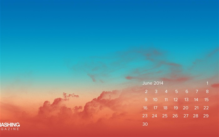 Sunset-June 2014 calendar wallpaper Views:1997