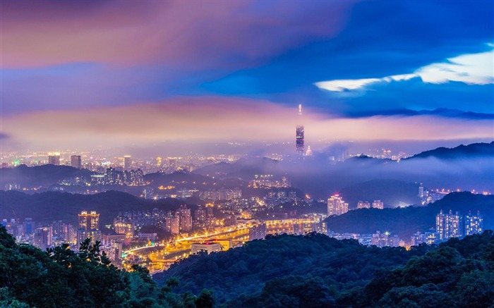 Taiwans night-Cities landscape wallpaper Views:2248